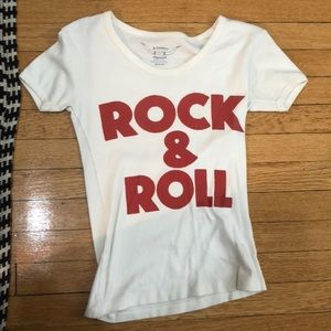 URBAN OUTFITTERS ROCK AND ROLL T-SHIRT.